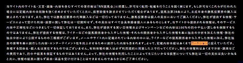 競馬予想サイト NN競馬会 フィクション